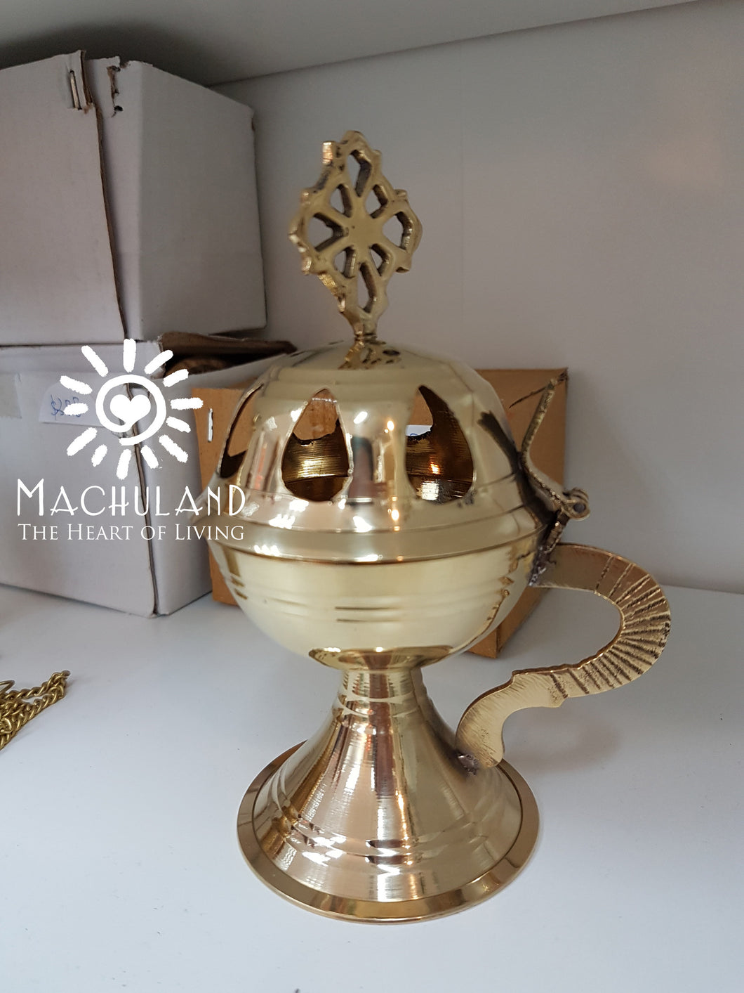 黃銅爐 Brass Incense Burner - Machuland hk
