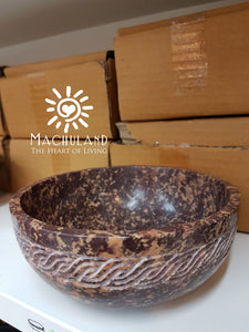 雕花石碗香爐 Curved Stone Bowl Incense Burner - Machuland hk
