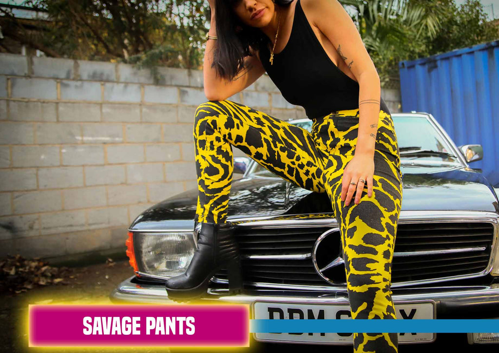 Savage Animal Print Trousers