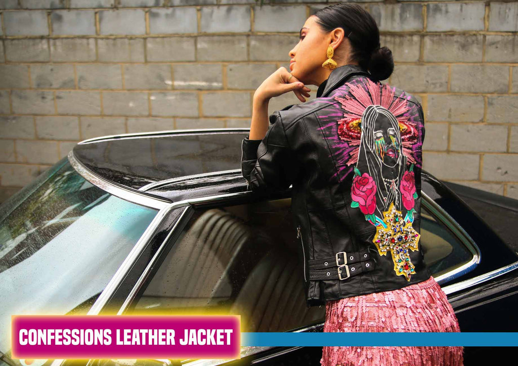 Mary Embellished Customized Leather Jacket