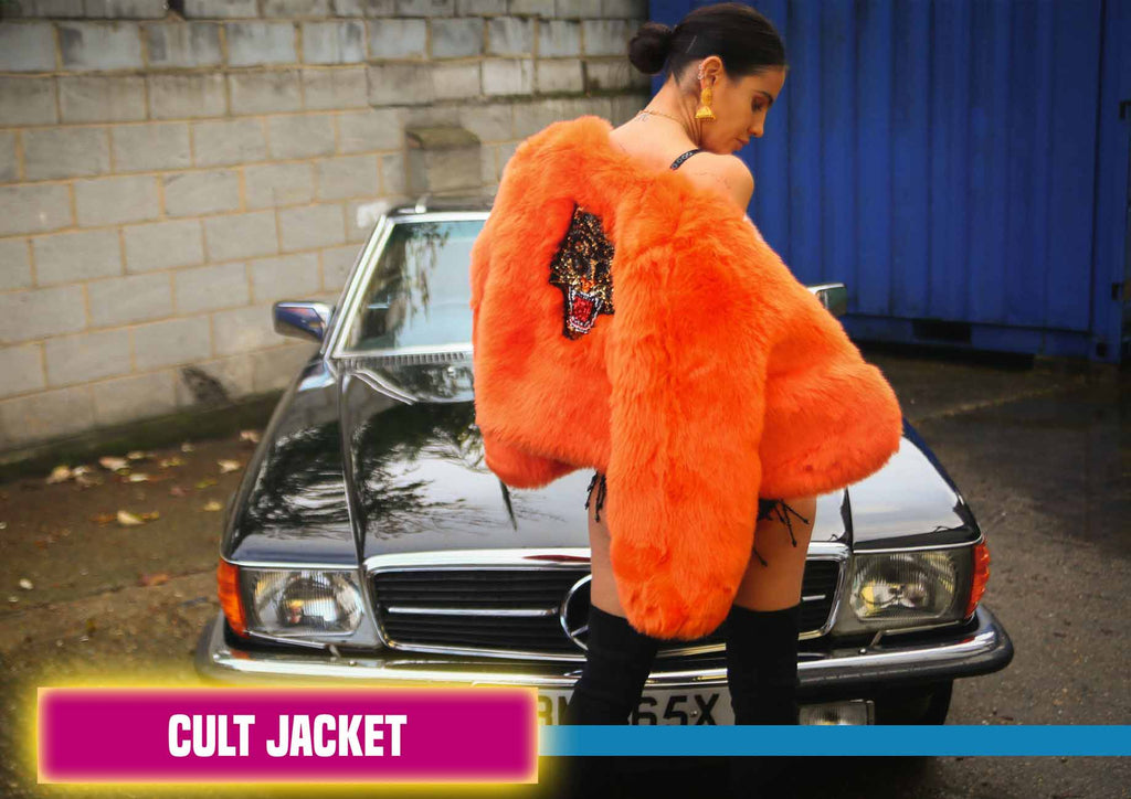 Cult Faux Fur Tiger Orange Jacket