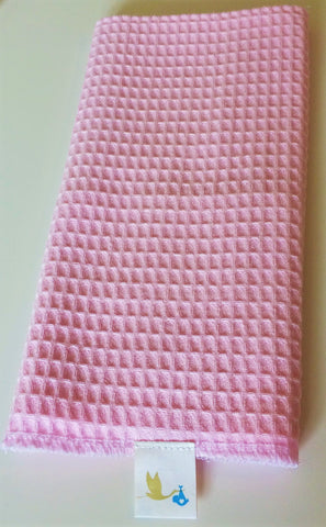 Waffle Muslin Cloth Square Pink