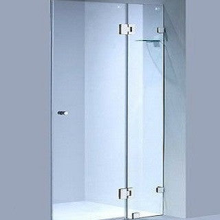 1080 wall to wall frameless shower screen 10 mm toughened glass