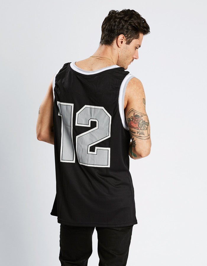 STAG BASKETBALL VEST // BLACK - GREY //