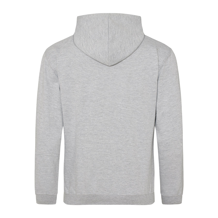 Jersey Print // Heather Grey Hoodie