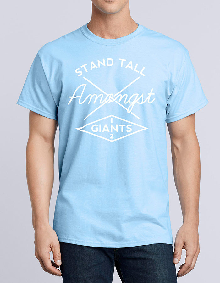Cross Print // Sky Blue T-Shirt