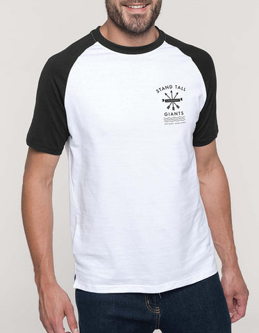 Est Print Circle // White-Black Ringer T-shirt