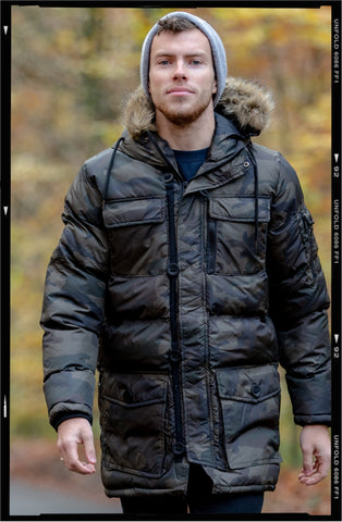 Hooded Bodywarmer // Navy Gilet