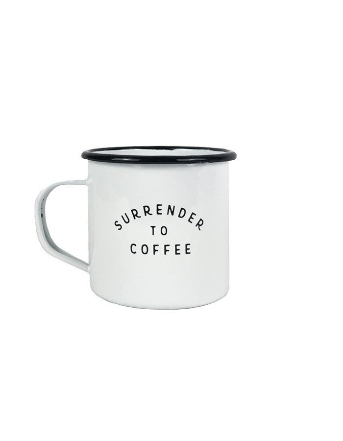 Surrender Enamel Mug
