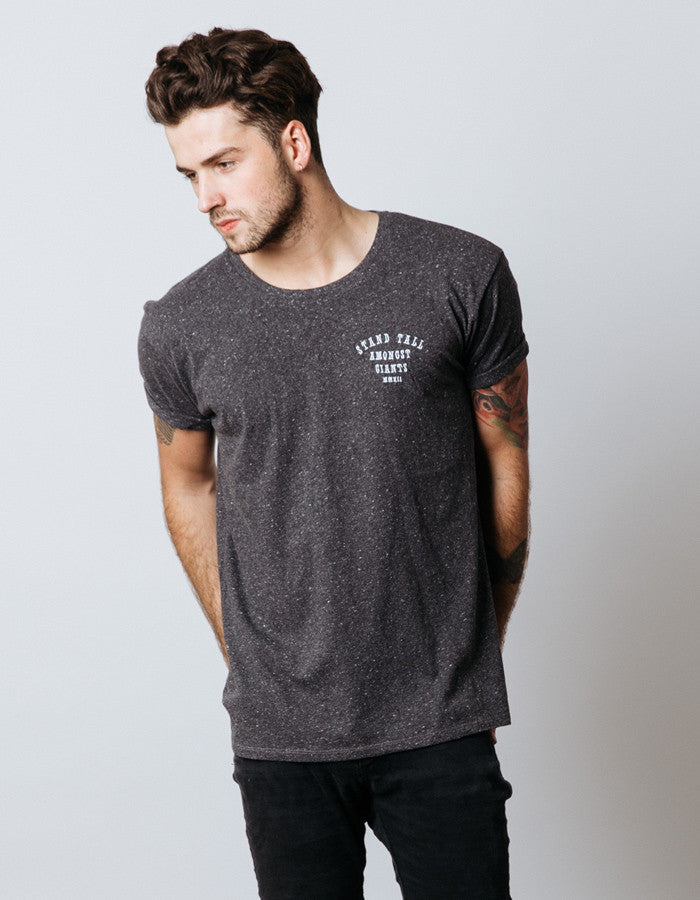 Embroidered Logo Tee // Charcoal