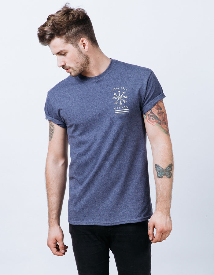 Native Tee // Heather Navy //