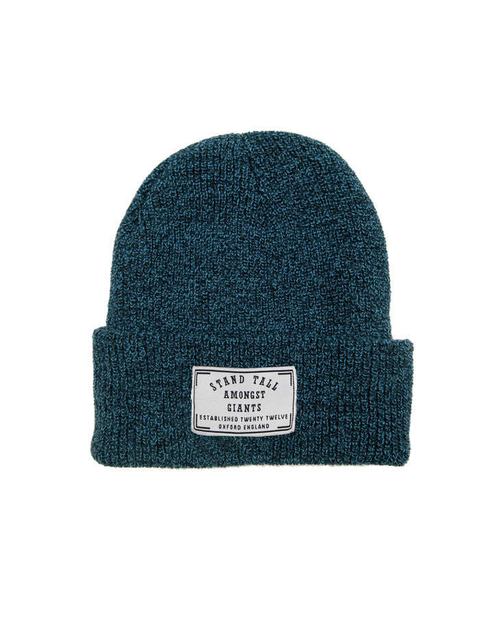 Speckled Beanie // Petrol Blue