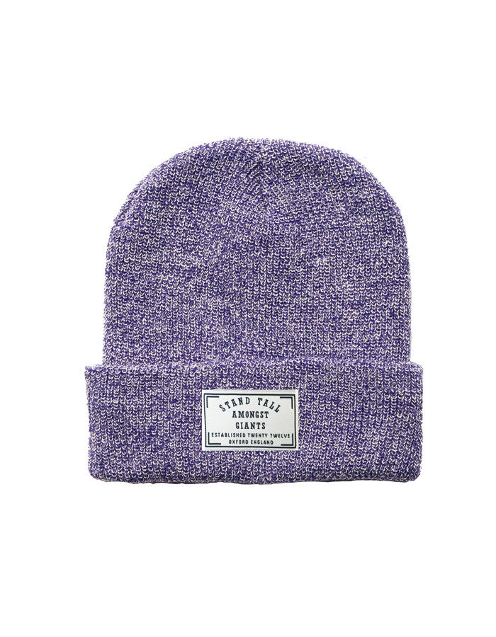Speckled Beanie // Purple