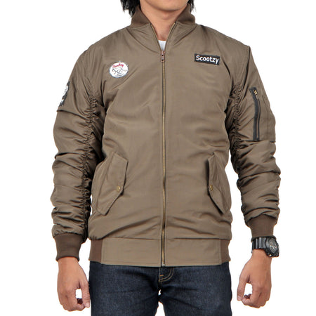 Heated Bomber Olive Green