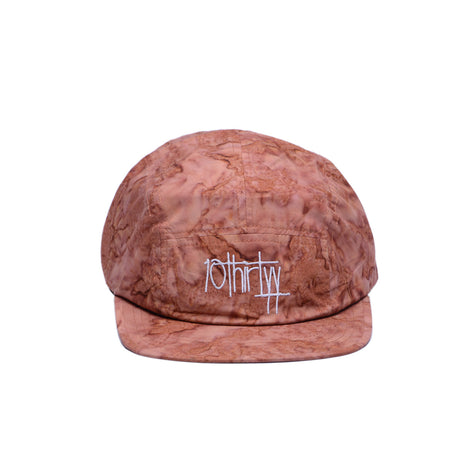 5 Panel Hat Fully Flared Maroon