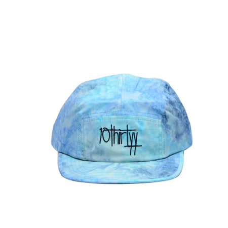 5 Panel Hat Fully Flared Blue