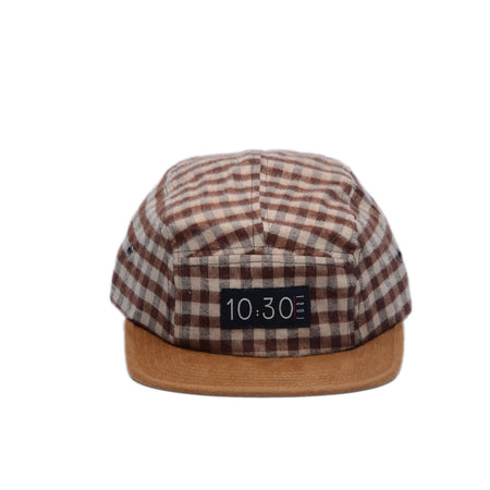 5 Panel Hat Plaid Brown