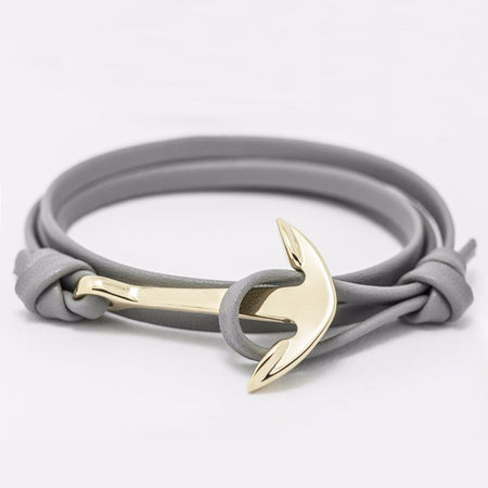 Ashley Anchor Bracelet - Color Grey Gold