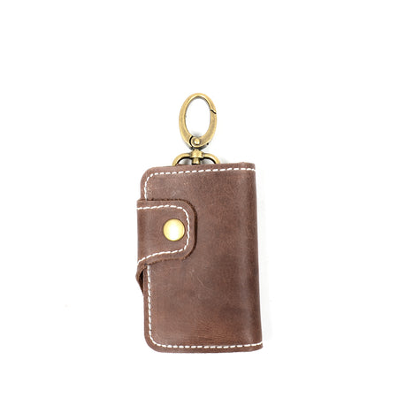 MONZE KEY WALLET DARK BROWN