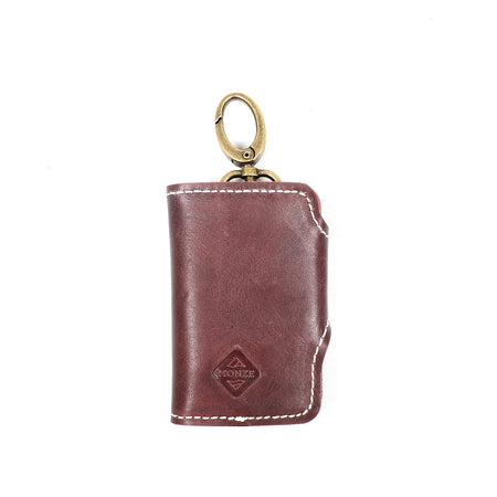 MONZE KEY WALLET BRICK BROWN