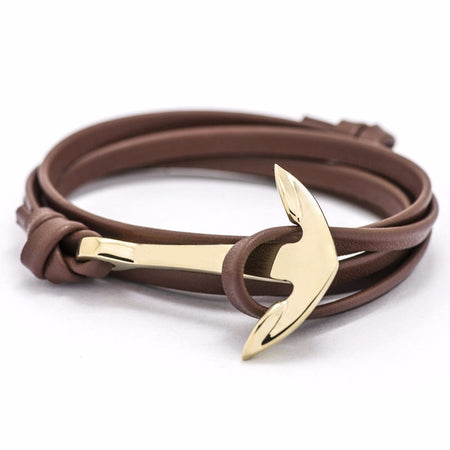Ashley Anchor Bracelet - Color Brown Gold