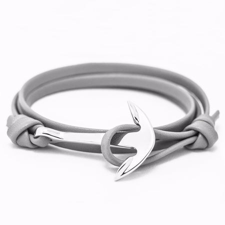 Ashley Anchor Bracelet - Color Grey Silver