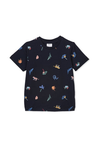 Jungle Tee - Midnight Blue