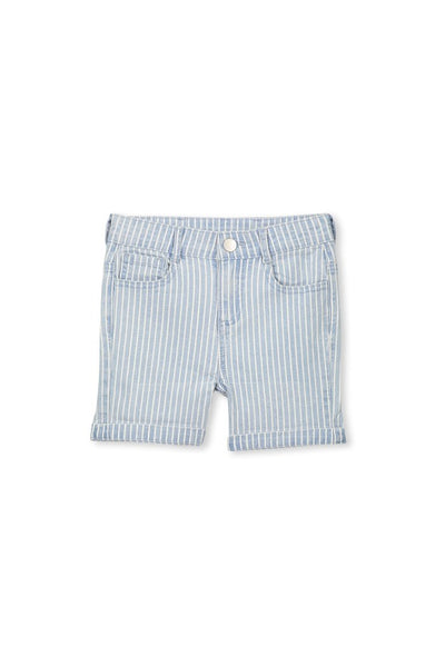 Denim Stripe Shorts