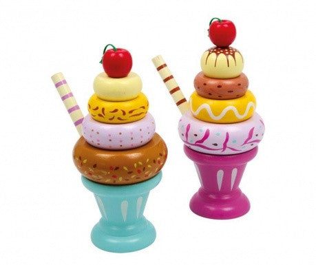 Wooden Ice Cream Sundae