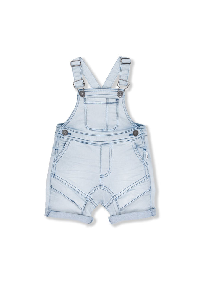 Cargo Short Dungaree - Light Blue