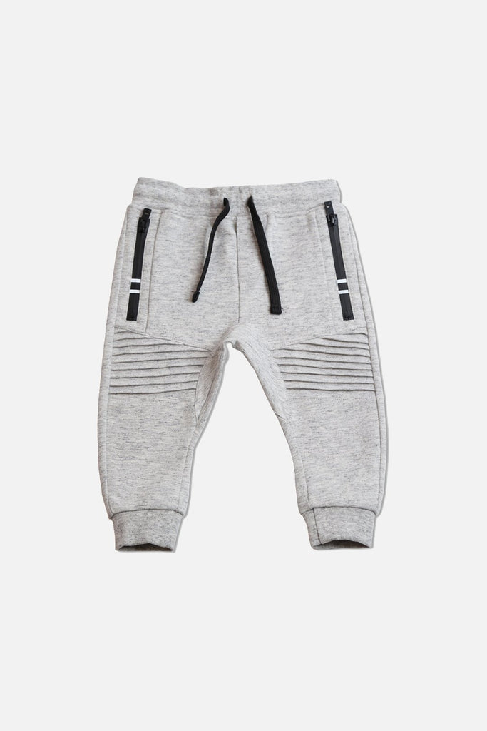 Biker Trackie - Light Grey