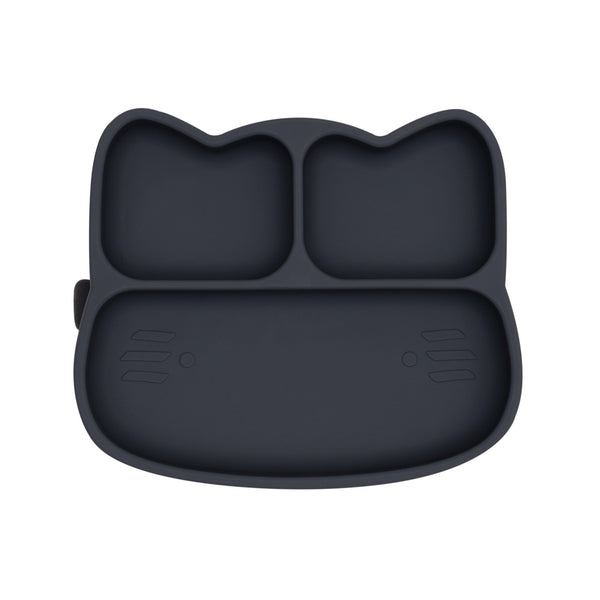 Cat Stickie Plate - Charcoal
