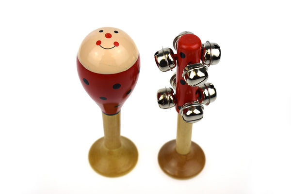 Maraca And Bell Set - Lady Bug
