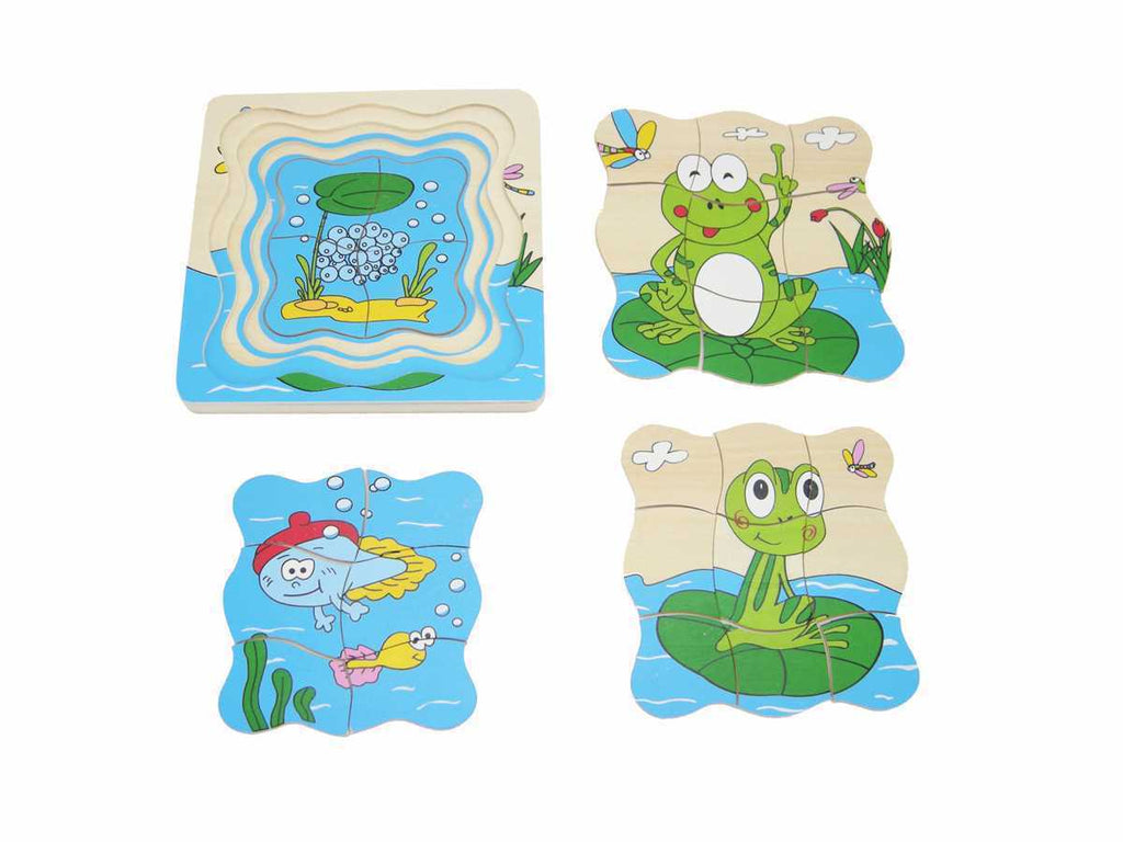 Frog Life Cycle Layered Puzzle