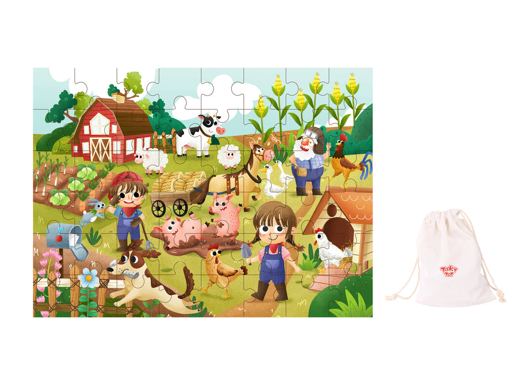 Wooden Farm Puzzle 48pcs
