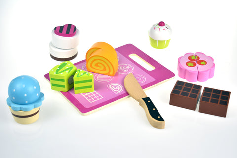 Wooden Cake Cutting Set