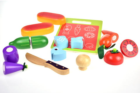 Wooden Food Cutting Set