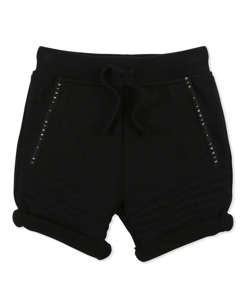 Biker Trackie Short - Black