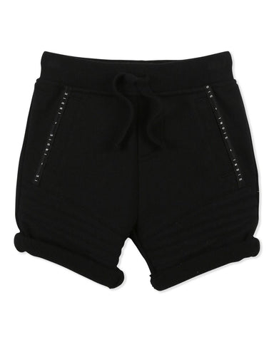Biker Trackie Short - Black - LAST ONE SZ000