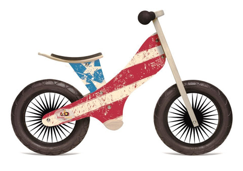 Kinderfeets Balance Bike - Retro Stars & Stripes