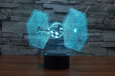 Star Wars Tie Fighter LED Light Lamp