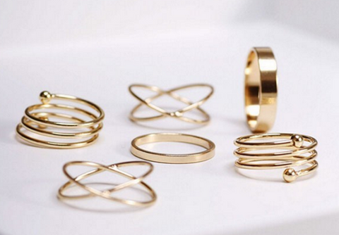 Gold Plated Knuckle Rings