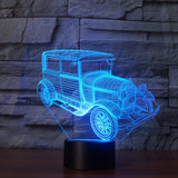 Vintage Car 3D Led Light Lamp