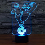 Panda 3D LED Light Lamp