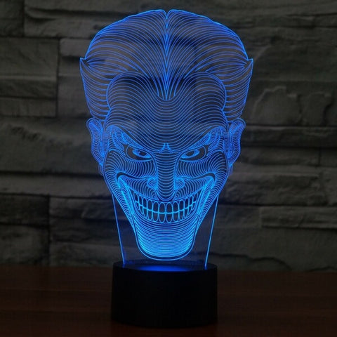 Joker 3D LED Light Lamp