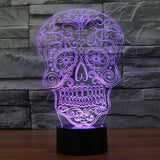 Sugar Skull 3D LED Light Lamp