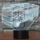 Firetruck 3D Led Light Lamp