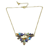 Antique Gold Plated Flower Boho Necklace