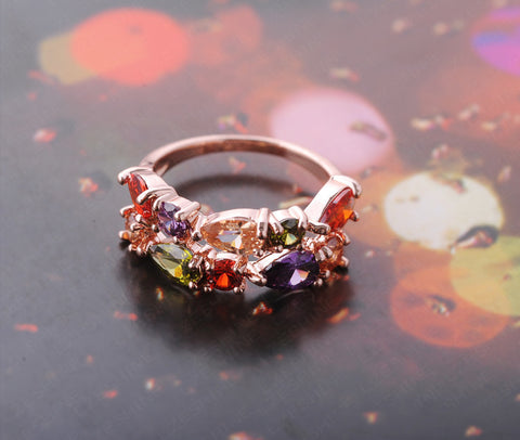 Colorful Fashion Ruby RIng