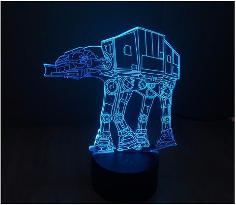 Star Wars AT AT 3D LED Light Lamp